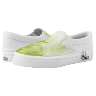 great watercolor background - watercolor paints 3 Slip-On shoes
