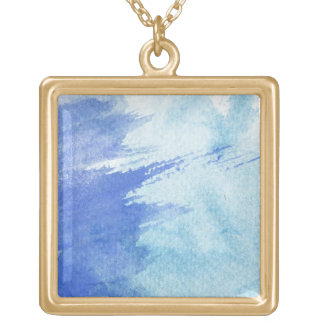 great watercolor background - watercolor paints 4 gold plated necklace