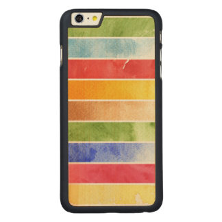 great watercolor background - watercolor paints 5 carved maple iPhone 6 plus case