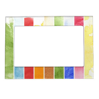 great watercolor background - watercolor paints 5 magnetic frame