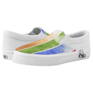 great watercolor background - watercolor paints 5 slip on shoes