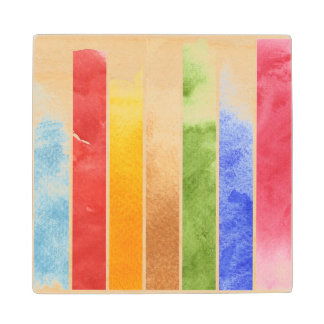 great watercolor background - watercolor paints 5 wood coaster