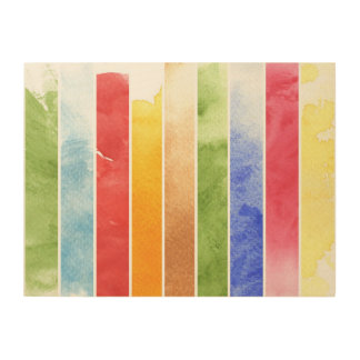great watercolor background - watercolor paints 5 wood print