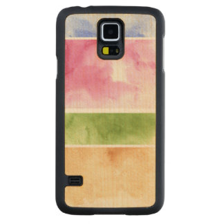 great watercolor background - watercolor paints 6 carved maple galaxy s5 case