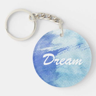 great watercolor background - watercolor paints key ring