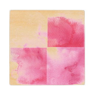 great watercolor banners for your design wood coaster