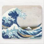 Great Wave Fine Art 葛飾北斎「神奈川沖浪裏」 Mousepad