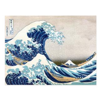 Great Wave Hokusai 葛飾北斎 神奈川沖浪裏 Postcard