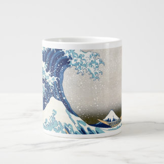 Great Wave Hokusai 葛飾北斎 神奈川沖浪裏 Jumbo Mugs
