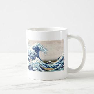 Great Wave Off Kanagawa Hokusai Fine Art Basic White Mug