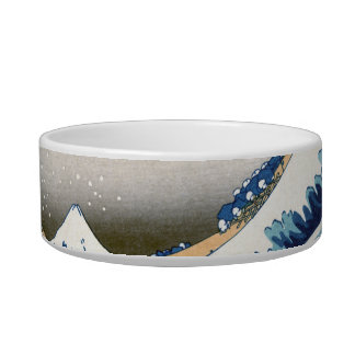 Great Wave Off Kanagawa Hokusai Fine Art Pet Water Bowl