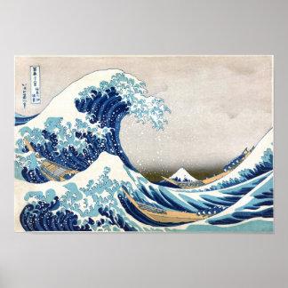Great Wave Off Kanagawa Hokusai Fine Art Poster