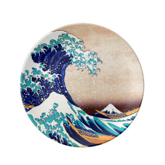 Great Wave Off Kanagawa Japanese Vintage Fine Art Plate