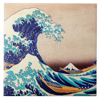 Great Wave Off Kanagawa Japanese Vintage Fine Art Tile