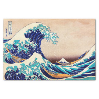 Great Wave Off Kanagawa Japanese Vintage Fine Art Tissue Paper