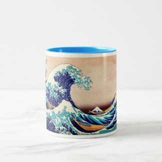 Great Wave Off Kanagawa Japanese Vintage Fine Art Two-Tone Coffee Mug