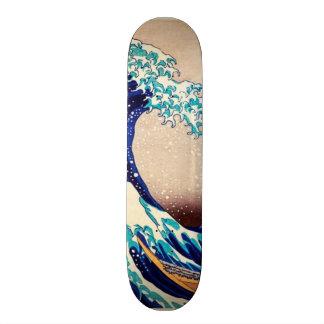 Great Wave Off Kanagawa Japanese Vintage Print Art Custom Skate Board