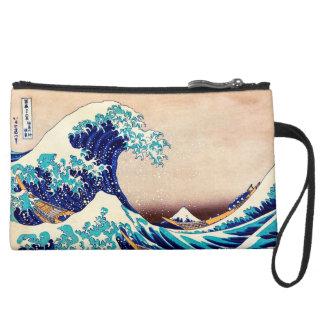 Great Wave Off Kanagawa Japanese Vintage Print Art Wristlet