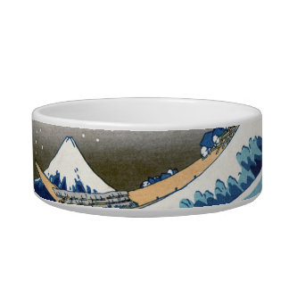 Great Wave Off Kanagawa Vintage Japanese Fine Cat Water Bowls