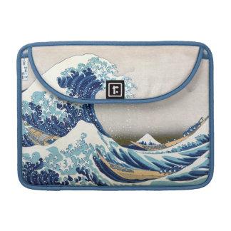 Great Wave Off Kanagawa Vintage Japanese Fine Sleeve For MacBooks