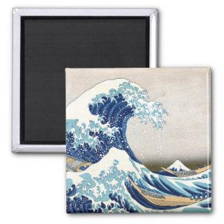 Great Wave Off Kanagawa Vintage Japanese Fine Square Magnet