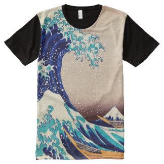 Great Wave Off Kanagawa Vintage Japanese Print Art All-Over Print T-Shirt