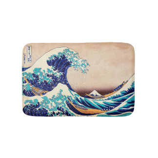 Great Wave Off Kanagawa Vintage Japanese Print Art Bath Mat