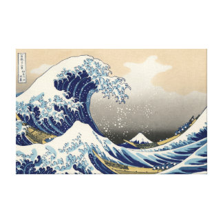 Great Wave Stretched Canvas Print
