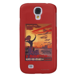 Great Week of Aviation - Woman Waving Poster Galaxy S4 Case