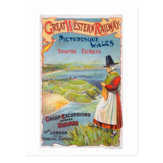 Great Western Railray Promo Tours to Wales Postcard