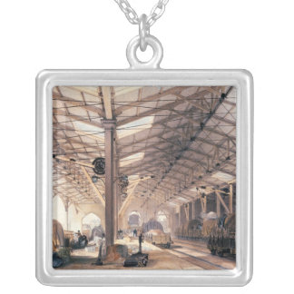 Great Western Railway: Freight shed at Bristol Silver Plated Necklace
