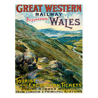 Great Western Railway Picturesque Wales UK Poster Postcard