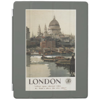 Great Western Railway St. Paul's Travel Poster iPad Cover