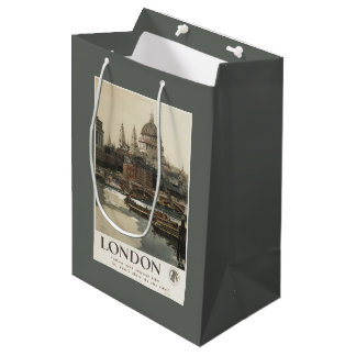 Great Western Railway St. Paul's Travel Poster Medium Gift Bag