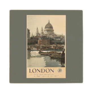 Great Western Railway St. Paul's Travel Poster Wood Coaster