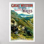 Great Western Railway Wales Vintage Travel Art