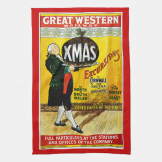 Great Western Railway Xmas Excursions Tea Towel