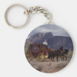 Great Western Trail Stagecoach Keychains