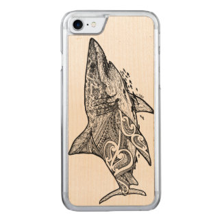 GREAT WHITE CARVED iPhone 8/7 CASE