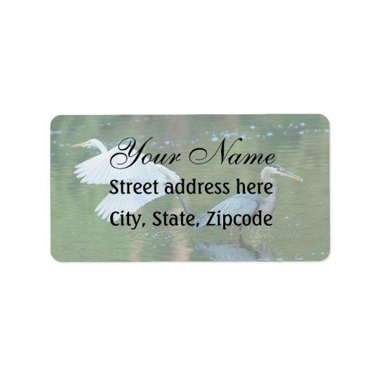 Great White Egret Address Label