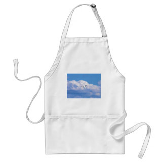 Great white egret flying in the beautiful sky adult apron