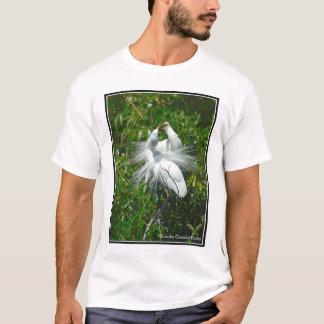 Great White Heron Courtship Display T-Shirt