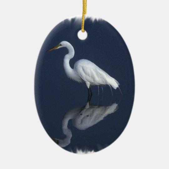 Great White Heron Ornament