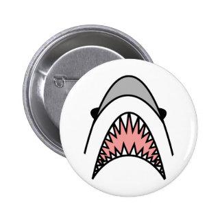 great white hype. 6 cm round badge