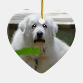 Great White Pyrenees Dog Ornament