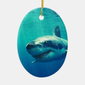 GREAT WHITE SHARK 1 CHRISTMAS ORNAMENT