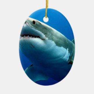 GREAT WHITE SHARK 3 CERAMIC OVAL DECORATION
