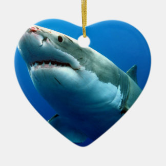 GREAT WHITE SHARK 3 CHRISTMAS ORNAMENT