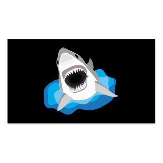 Great White Shark Attack Pack Of Standard Business Cards