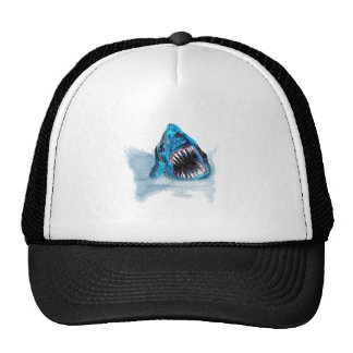 Great White Shark Attack Painting Hats